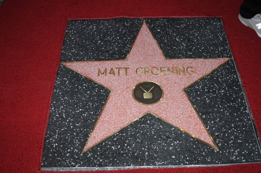 Executive Producer Matt Groening's Star on the Hollywood Walk of Fame Tuesday, Feb. 14 in Hollywood, CA. THE SIMPSONS © 2012 TCFFC ALL RIGHTS RESERVED. CR: Scott Kirkland/FOX