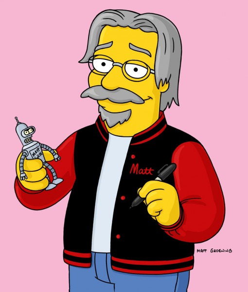 Matt Groening as himself on The Simpsons