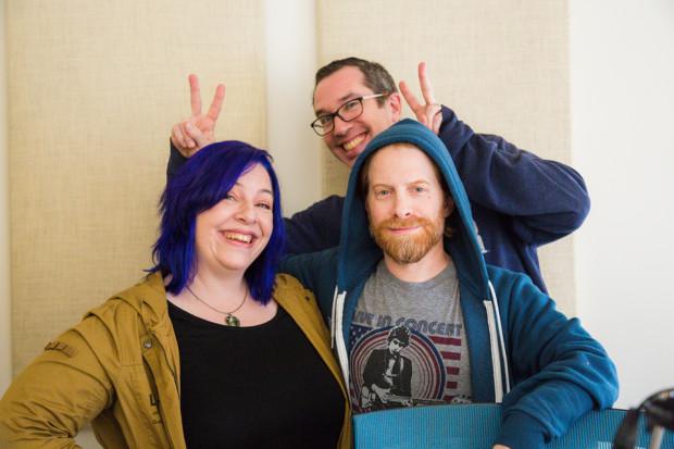 Holly Frey, Seth Green, and Matt Seinrich