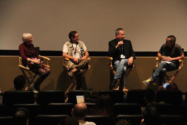 Mermaids PANEL left to right - Kat Alioshin, Justin Kohn, Jon Peters and moderator Michael Dietz
