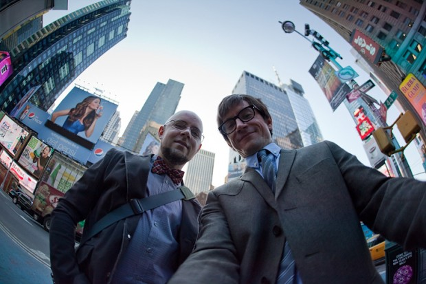 (from left) Michael DiMartino and Bryan Konietzko