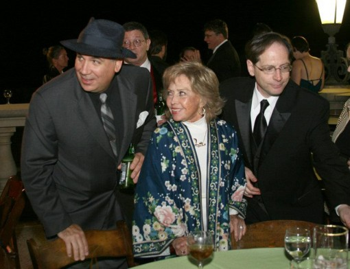 (from left) Michael Mallory, June Foray and Jerry Beck