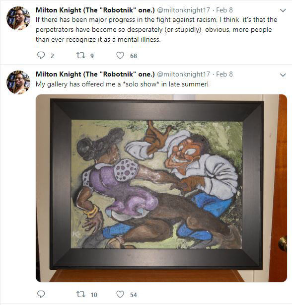 Milton Knight Twitter post