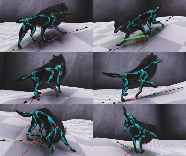 Mode-Adaptive Neural Networks for Quadruped Motion Control
