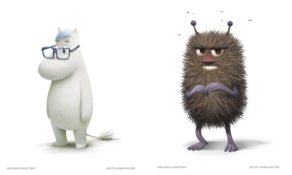 Arte conceptual para los nuevos personajes Snork y Stinky.