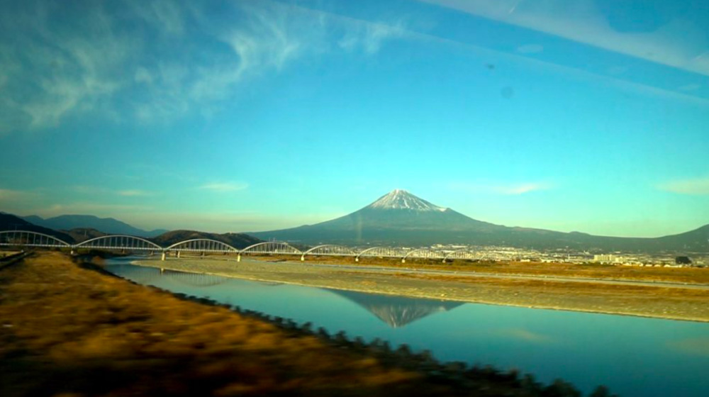 Mt. Fuji as Seen from a Moving Train by Pierre Hebert