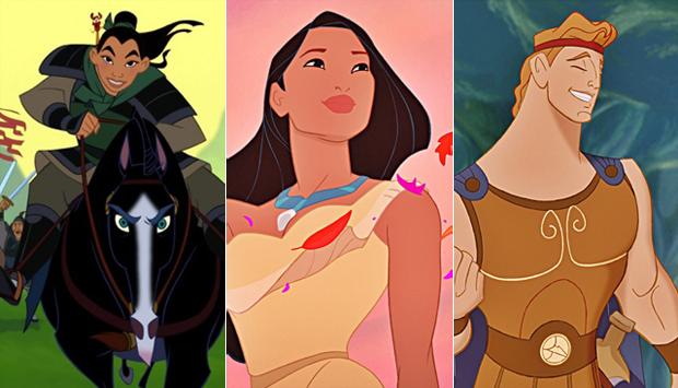 Mulan / Pocahontas / Hercules