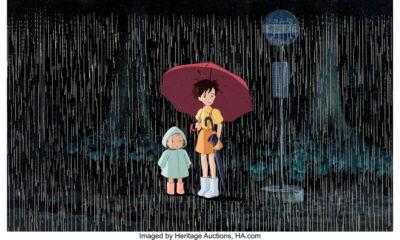 My Neighbor Totoro production cel setup (Studio Ghibli)
