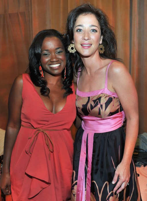"HOLLYWOOD, CA - AUGUST 27:  Actors Niketa Calame and Moira Kelly attend ""The Lion King"" Los Angeles 3D Premiere after party at the Annex at Hollywood & Highland on August 27, 2011 in Hollywood, California.  (Photo by Alberto E. Rodriguez/WireImage)"