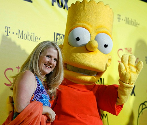 Nancy Cartwright with Bart Simpson