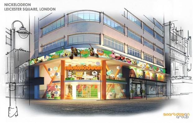 Nickelodeon London Exterior Rendering