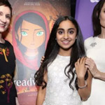 Nora Twomey, Saara Chaudry, and Angelina Jolie