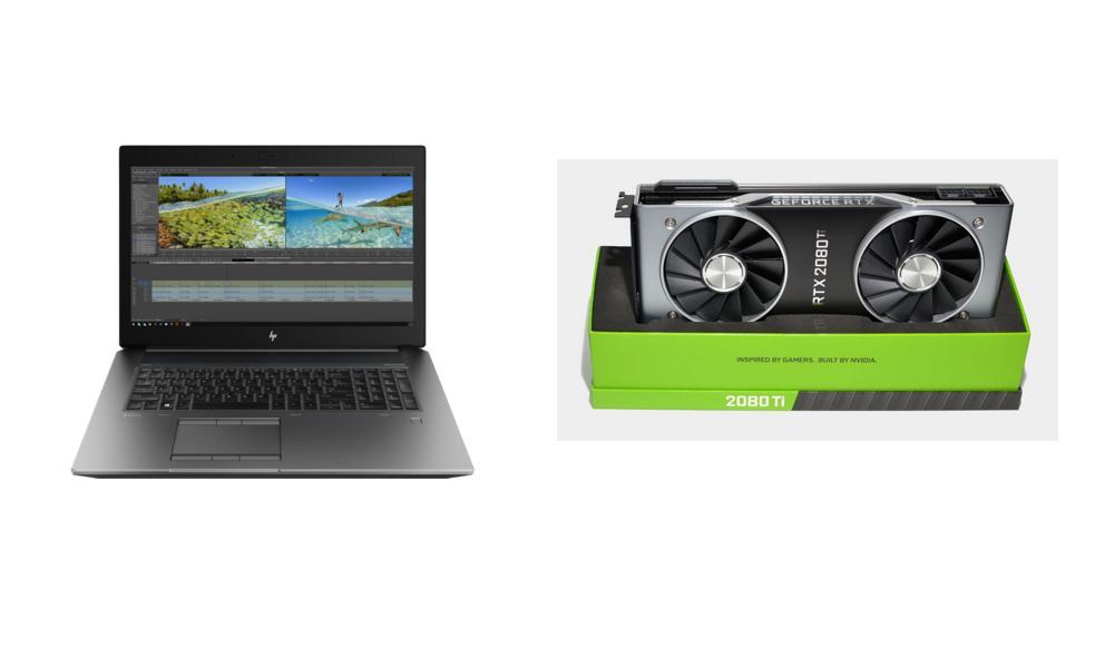 Nvidia GeForce RTX 2080 Ti & HP ZBook 17G6