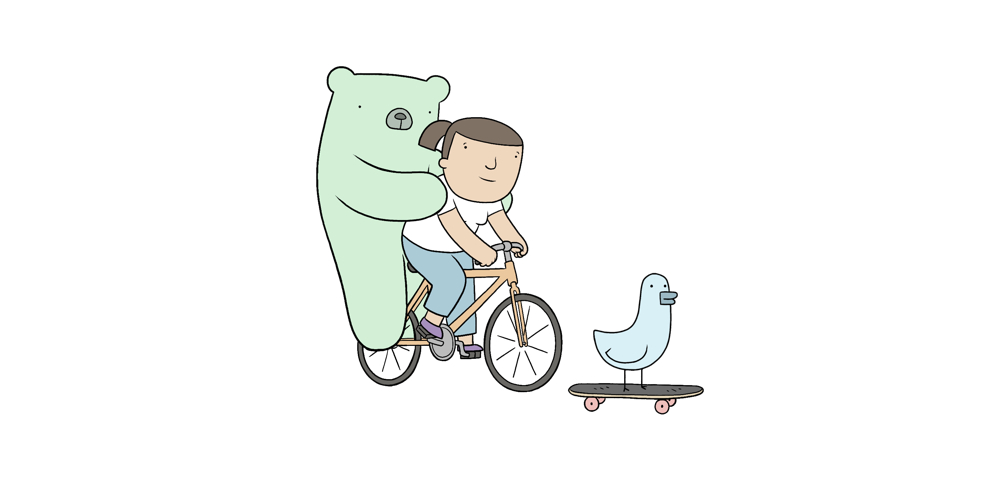 Poorly Drawn Lines features the voices of Tony Revolori as Ernesto the bear, D'Arcy Garden as Tanya and Ron Funches as Kevin the bird.