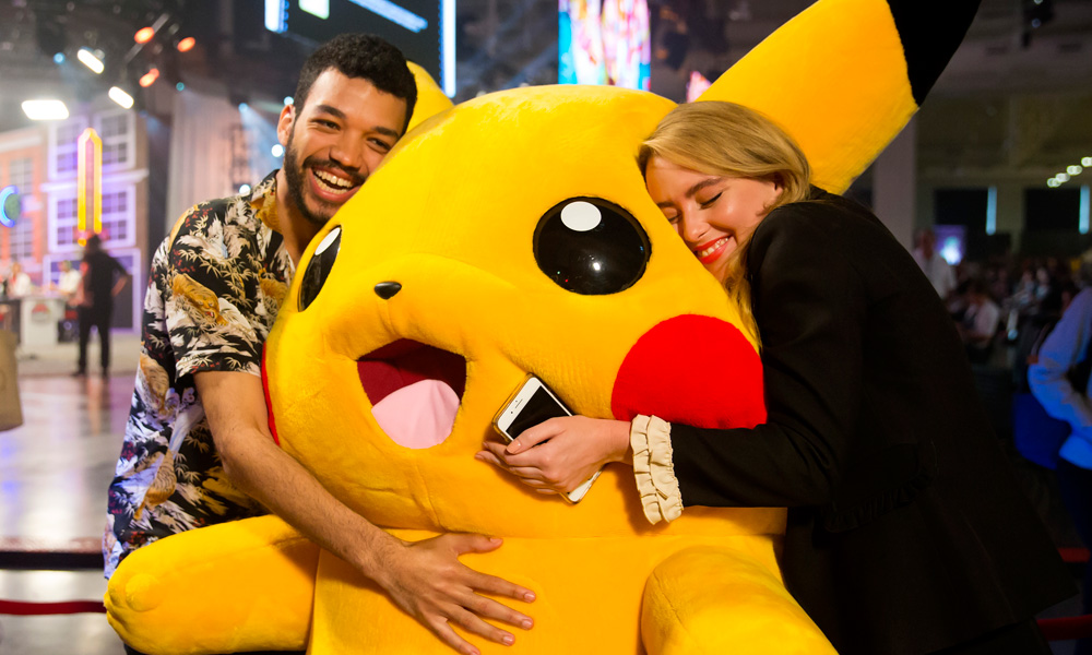 Actors Justice Smith and Kathryn Newton show their Pika-appreciation!
