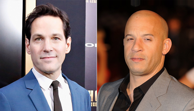 (from left) Paul Rudd and Vin Diesel