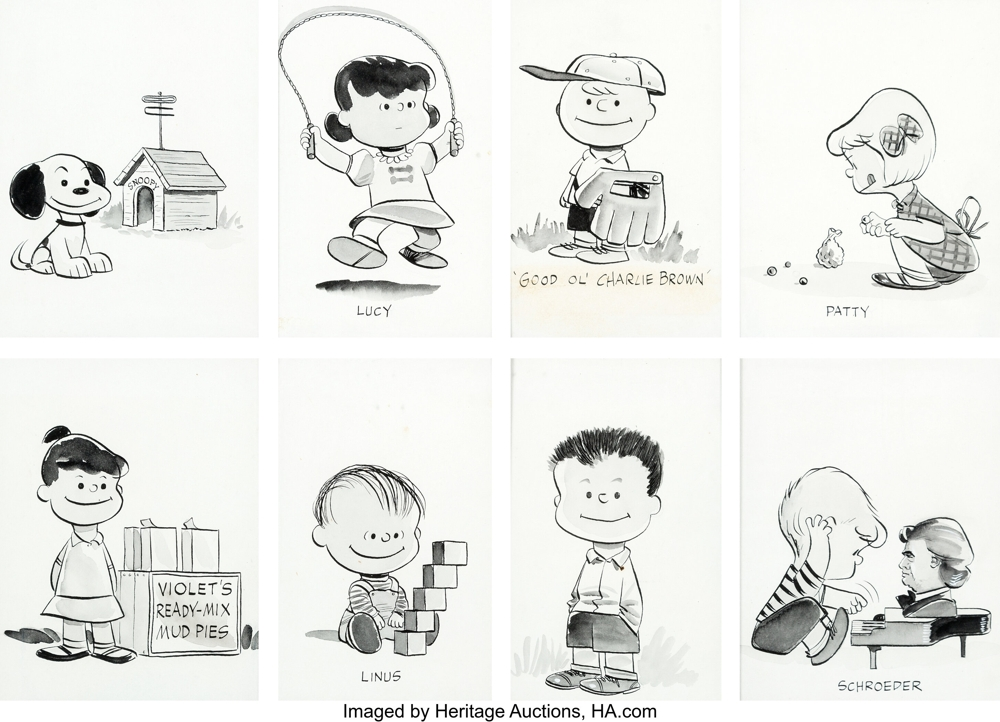 """The Peanuts Album"" illustrations by Charles Schulz"