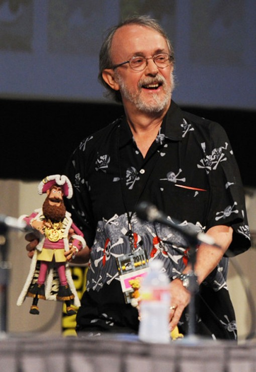 "Peter Lord of Aardman Animation Studio presents ""The Pirates! Band of Misfits"" at Comic-Con in San Diego."