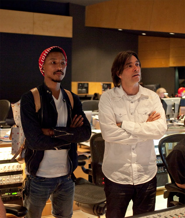 (from left) Pharrell Williams and Heitor Pereira