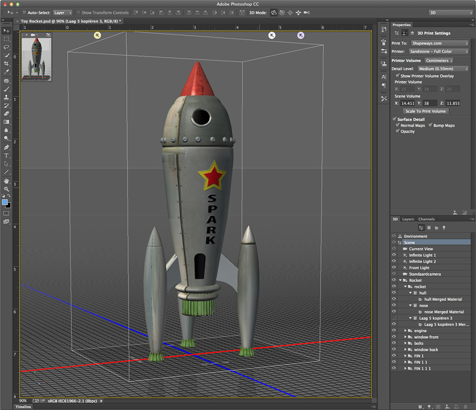 review photoshop 3d printing tools