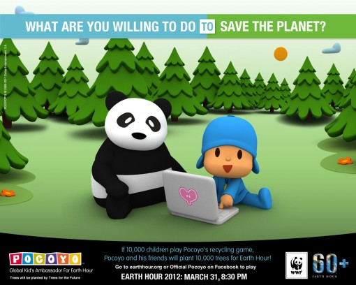 Pocoyo's Earth Hour Initiative
