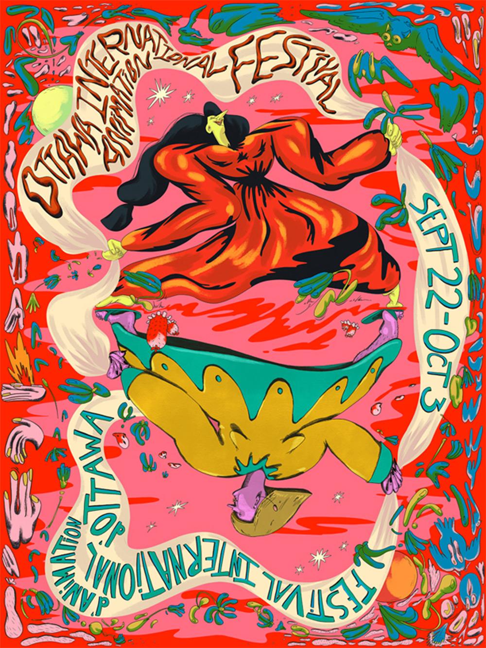 OIAF 2021 official poster designed by Angela Stempel & Amanda Bonaiuto.