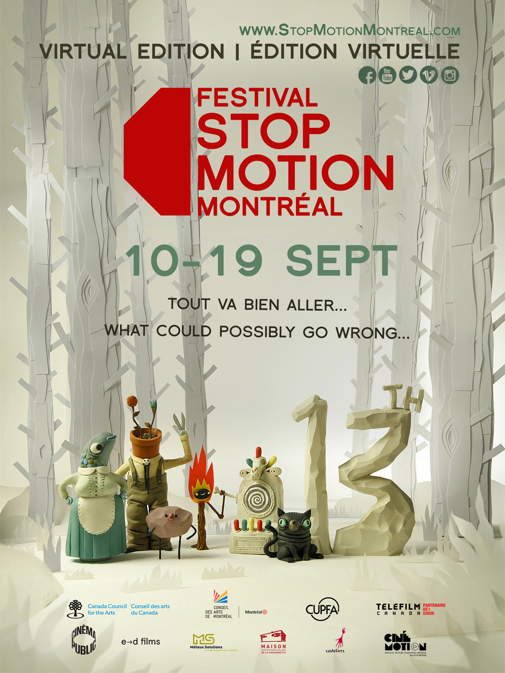 13th Festival Stop Motion Montréal © Design, illustration and photography by Gianluca Maruotti