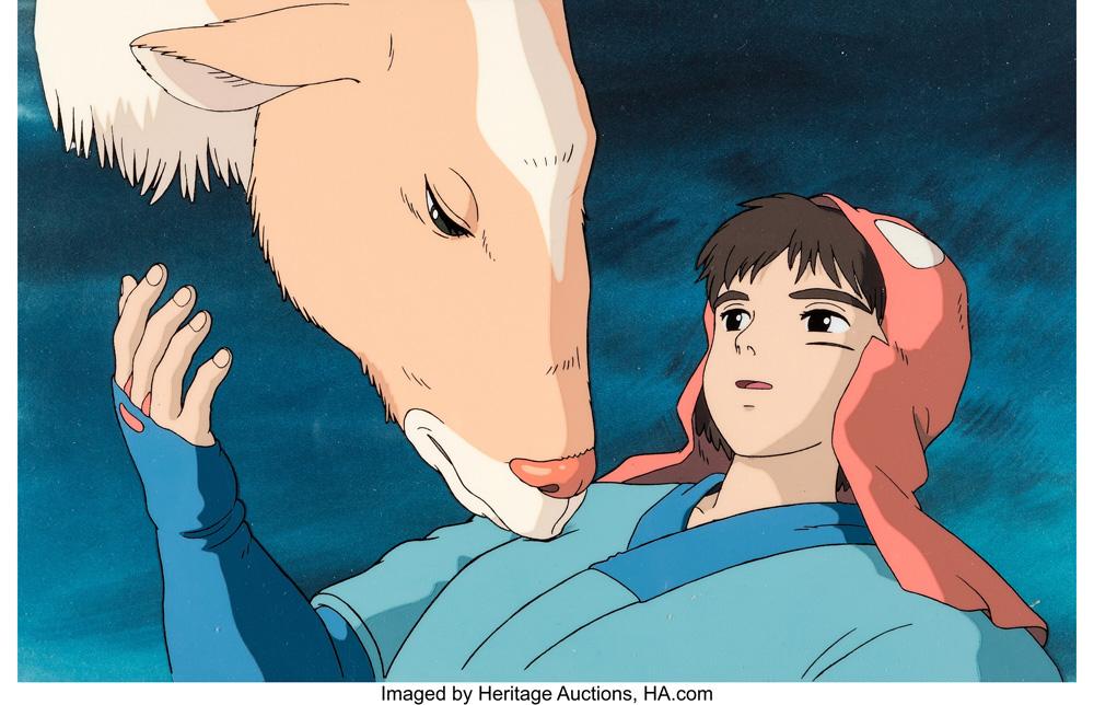 Princess Mononoke production cel (Studio Ghibli)