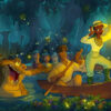 Disney unveils new Splash Mountain concept art themed to The Princess and the Frog. [Image: The Walt Disney Company]