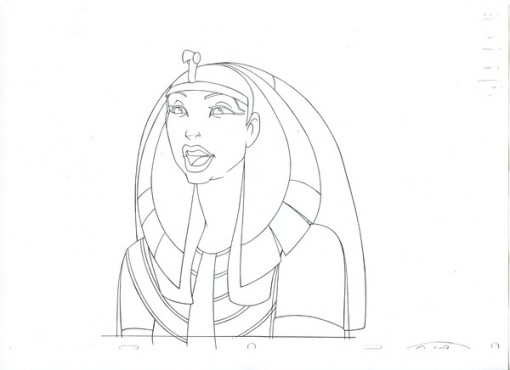 The Queen from Prince of Egypt Final Line Drawing