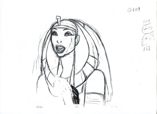 The Queen from Prince of Egypt Rough Sketch