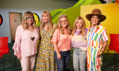 The Babies Are Back: (L-R) Cheryl Chase (Angelica), Kath Soucie (Phil & Lil), Nancy Cartwright (Chuckie), EG Daily (Tommy) and Cree Summer (Susie)