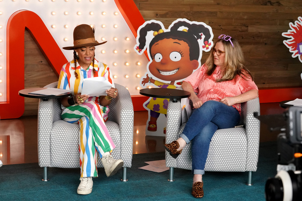 Cree Summer (L) and Nancy Cartwright
