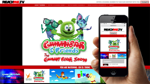 Toonz & ReachMe.TV Launch Kids' Entertainment Channel