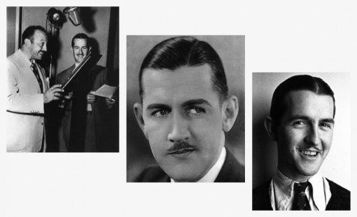 (Top Left) Bob McKimson with Mel Blanc (Middle) Charley Chase and (Bottom Right) Bob McKimson