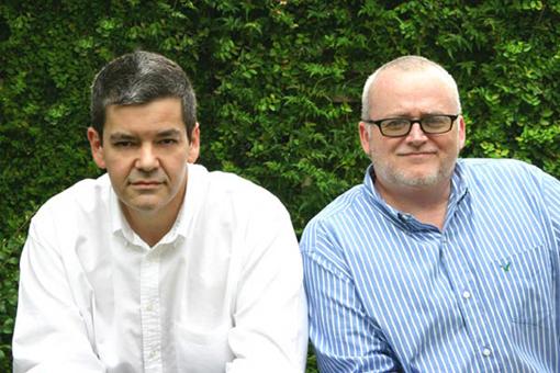 (from left) Robert Schooley and Mark McCorkle