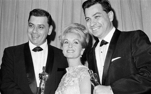 (from left) Robert Sherman, Debbie Reynolds and Richard Sherman
