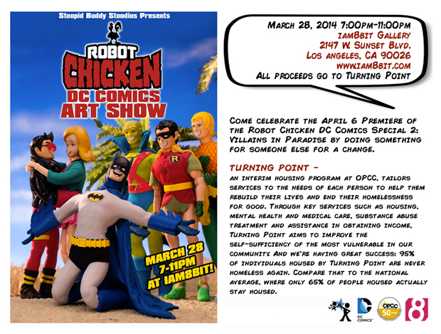 Robot Chicken DC Comics Art Show