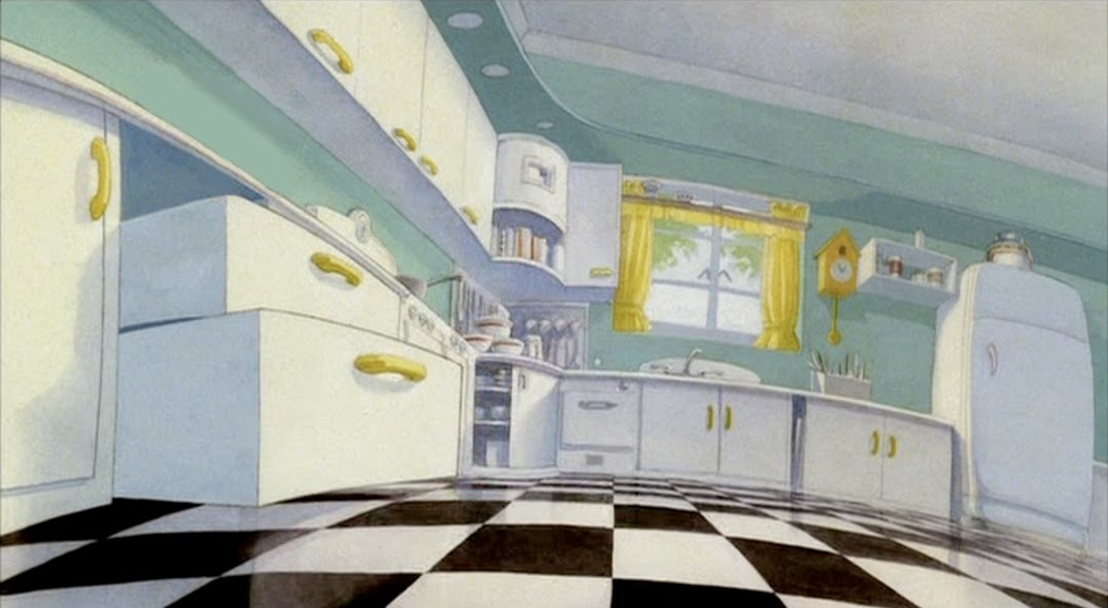 Background design for the 'Maroon Cartoon' in Who Framed Roger Rabbit by Naisbitt.