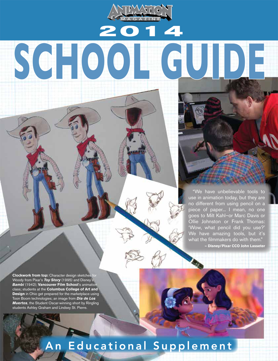 Animation university guides