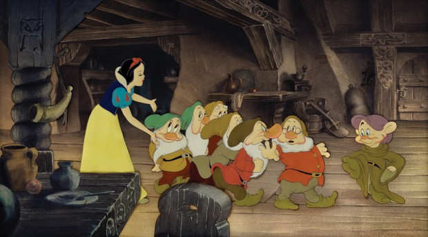 "Snow White and the Seven Dwarfs ""Off to Bed"" cel"