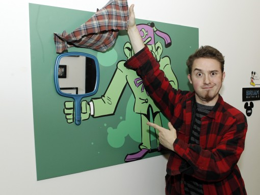"DISNEY CHANNEL - Disney Television Animation hosts a fall art gallery themed ""Some Kind of Monster"" spotlighting submissions from its pool of talented creative artists, executives and staff at their offices in Glendale, Calif. (Thursday, October 18). (DISNEY CHANNEL/RICK ROWELL) ALEX HIRSCH (CREATOR AND EXECUTIVE PRODUCER OF DISNEY CHANNEL'S MYSTERY ADVENTURE SERIES ""GRAVITY FALLS"")"