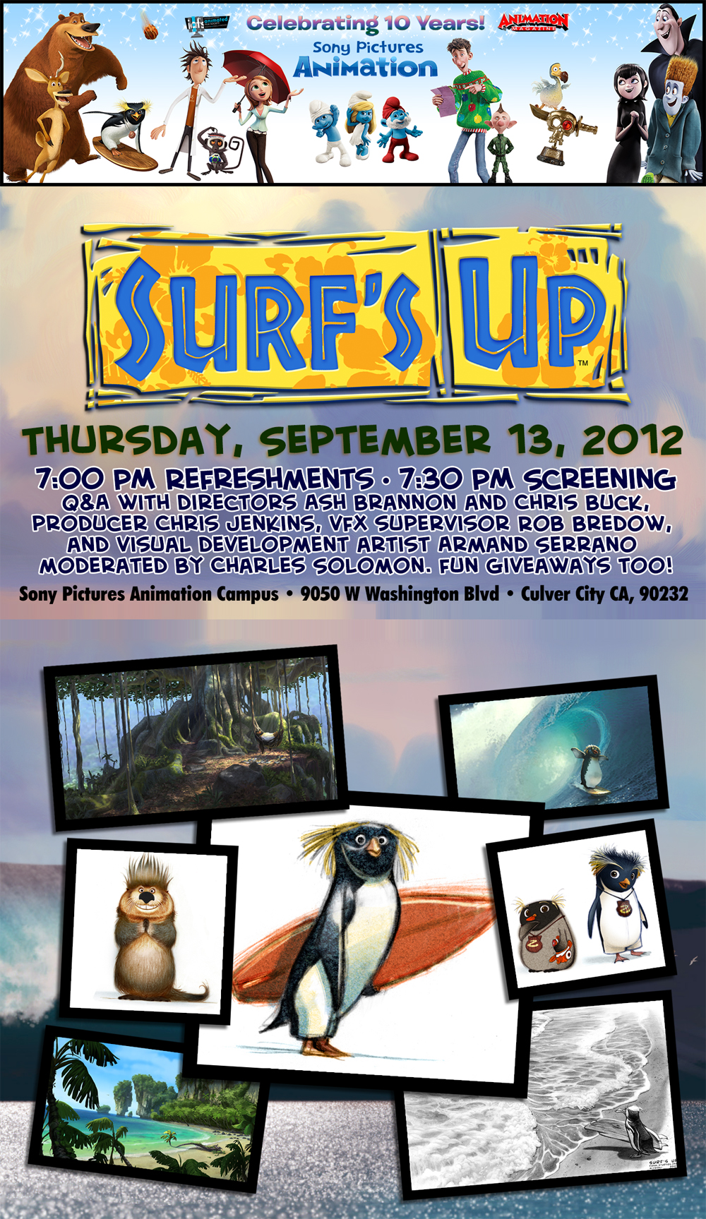 win tickets to sony�s special surf�s up screening