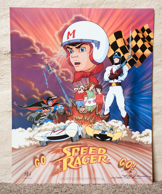 Well known Limited Edition Speed Racer poster | Animation Magazine AG76
