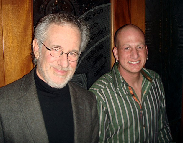 (from left) Steven Spielberg and David Kracov