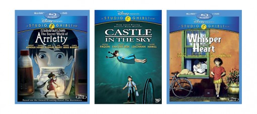The Secret World of Arrietty, Castle in the Sky and Whisper of the Heart