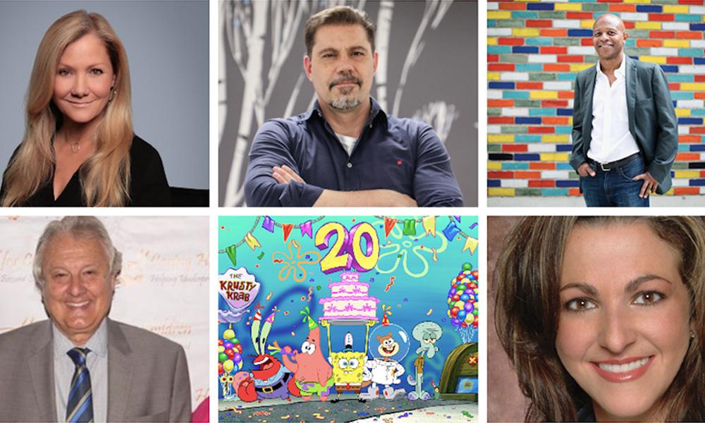 Jill Culton, Sergio Pablos, Marlon West, Mike Young, Spongebob SquarePants and Adina Pitt