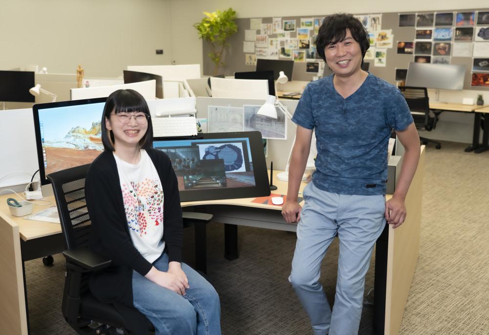 Namiko Ishidae, Creative Associate, Netflix Anime Creators' Base (left) and Netflix Anime Chief Producer Taiki Sakurai in the Designer's Garage.