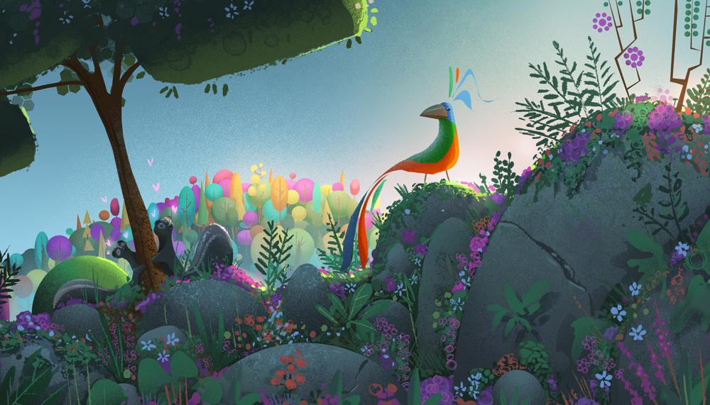 Crow: The Legend concept art from The Art of Baobab (courtesy Baobab Studios)