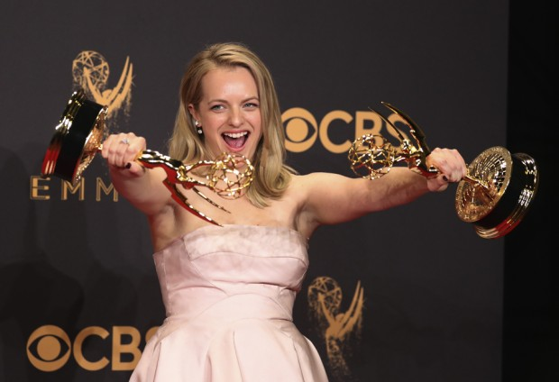 The Handmaid's Tale producer & star Elisabeth Moss at the 2017 Primetime Emmys [Credit: Reuters]